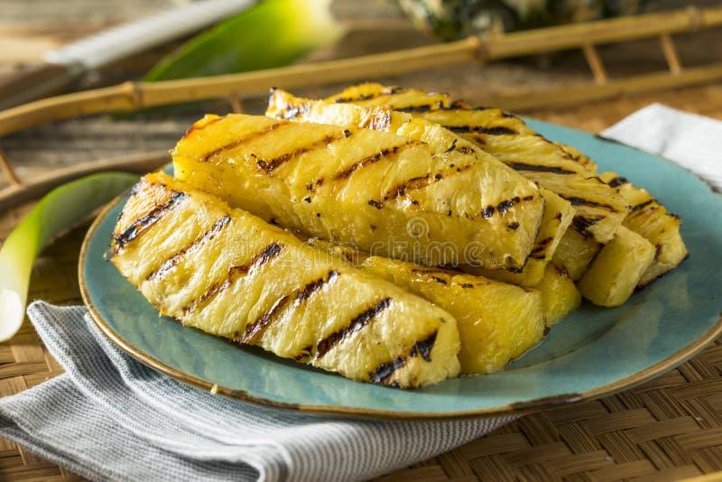 甜点烤菠萝切片 图库摄影