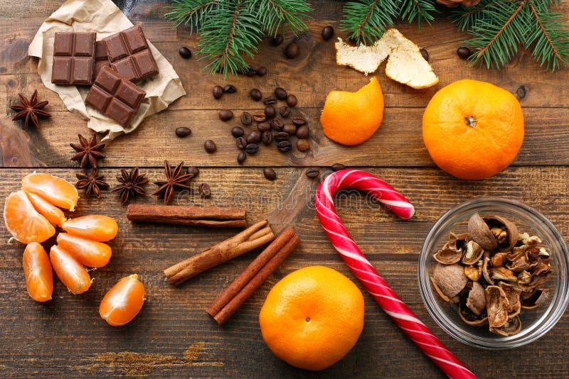 从甜点的圣诞节构成 免版税库存照片