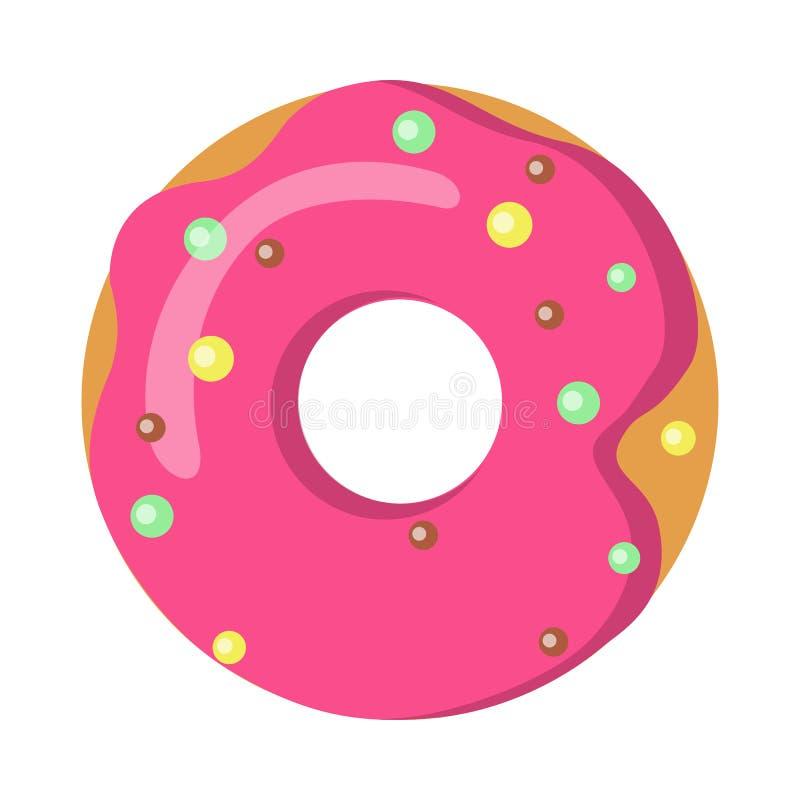 甜点 多福饼的图片与桃红色的洒 库存例证