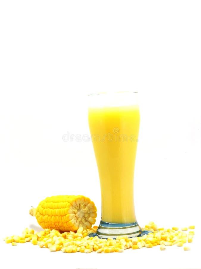 甜玉米汁玉米牛奶 免版税库存图片