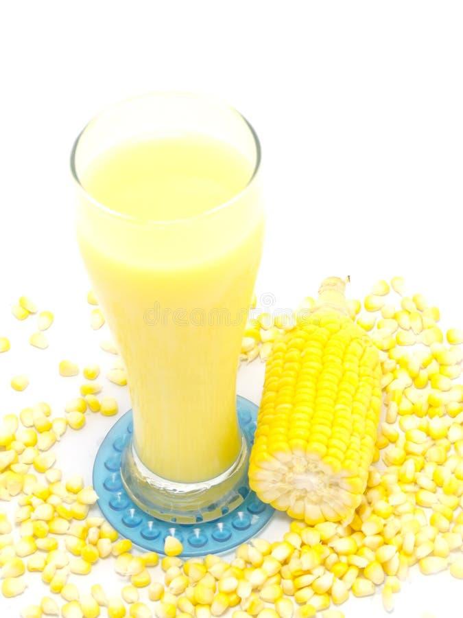 甜玉米汁玉米牛奶 免版税图库摄影