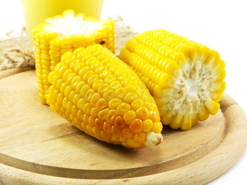甜玉米汁玉米牛奶 库存照片