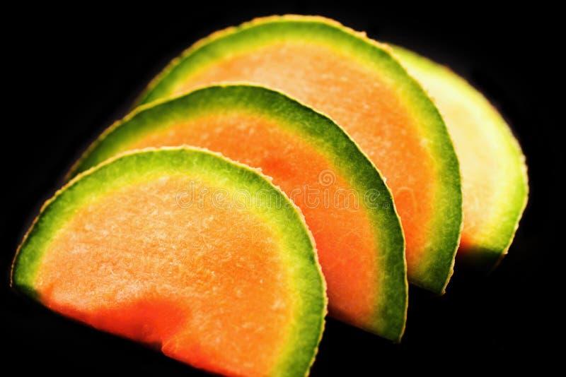 甜瓜瓜,切片 图库摄影