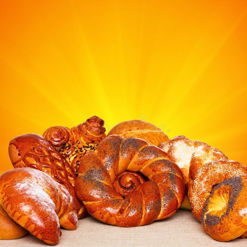 甜的小圆面包 免版税库存图片