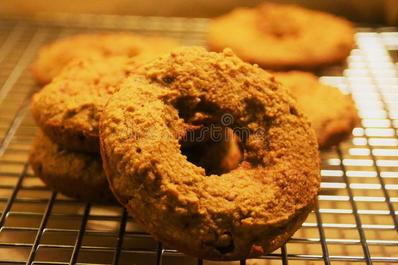 甜的油炸圈饼 免版税库存照片