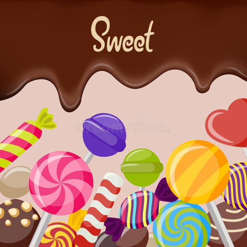 甜糖果海报 皇族释放例证