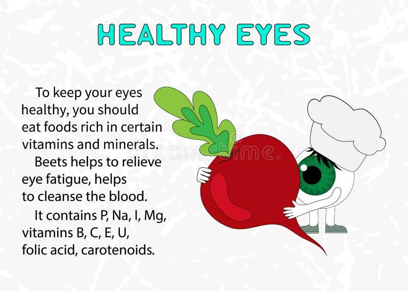甜菜的好处健康眼睛的 皇族释放例证