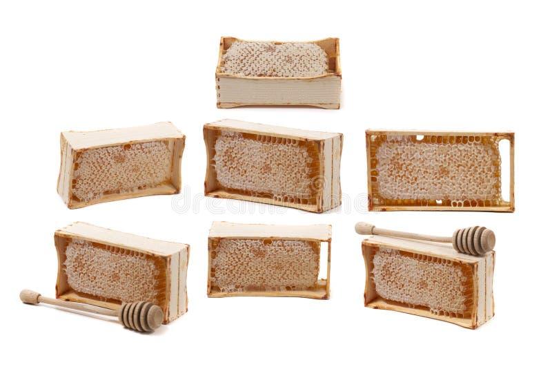 甜蜂窝条板箱 免版税库存图片