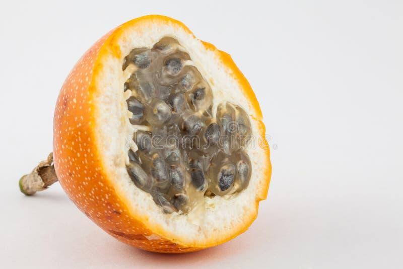 甜西番果西番莲ligularis 免版税库存图片