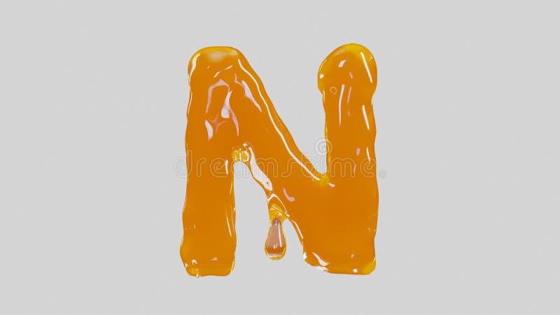 甜鲜美字母N 免版税库存图片
