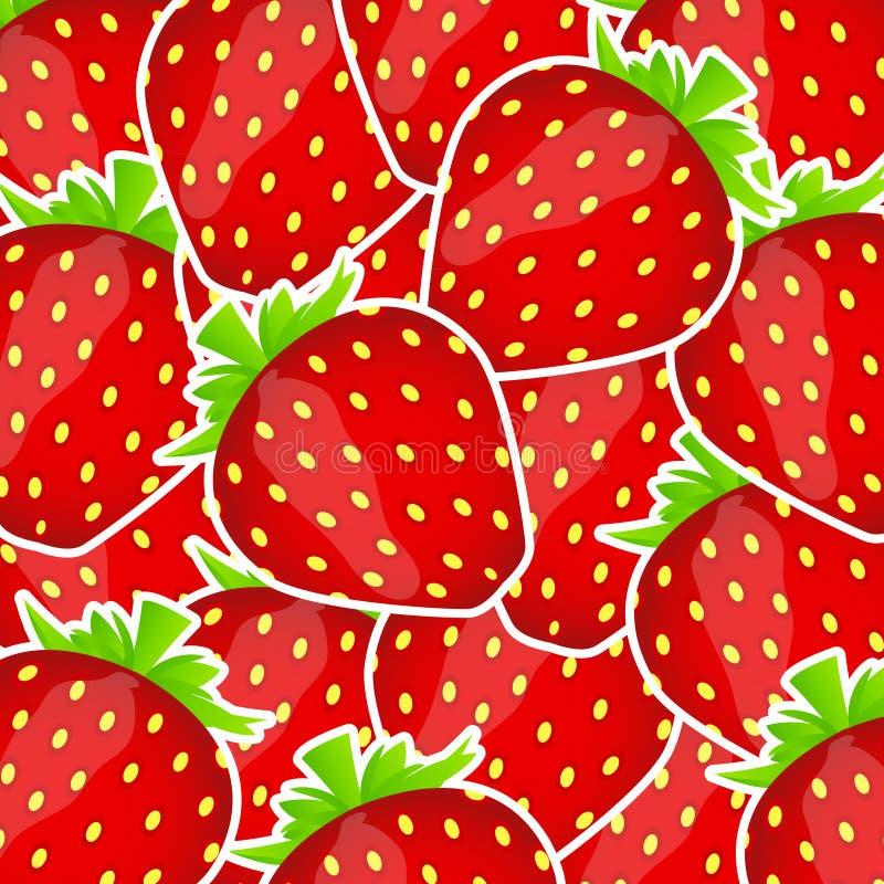 甜鲜美草莓向量例证 库存例证