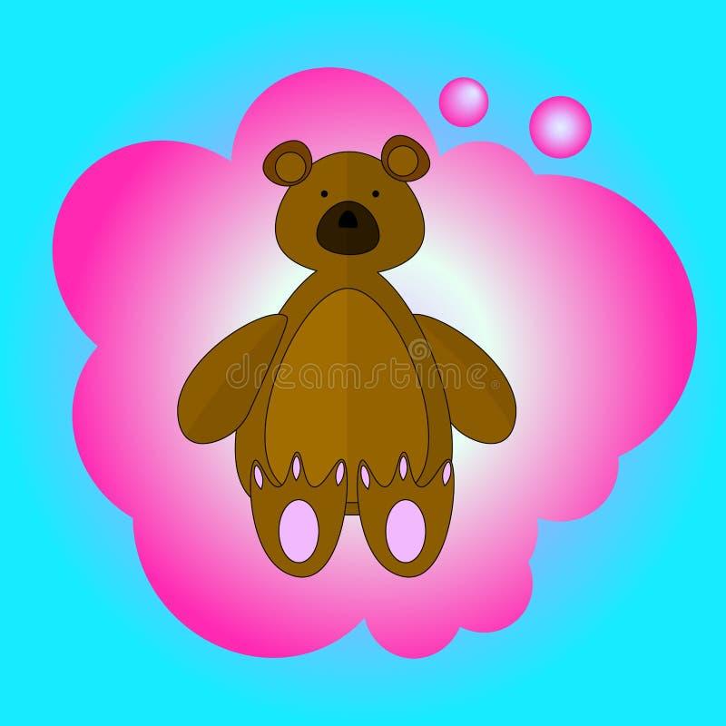 甜滑稽的熊 库存照片