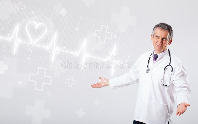 Download 医生与抽象心脏的examinates心跳 库存图片. 图片 包括有 兽性, 线路, 活动, 被照顾的, 数字式 - 62526607