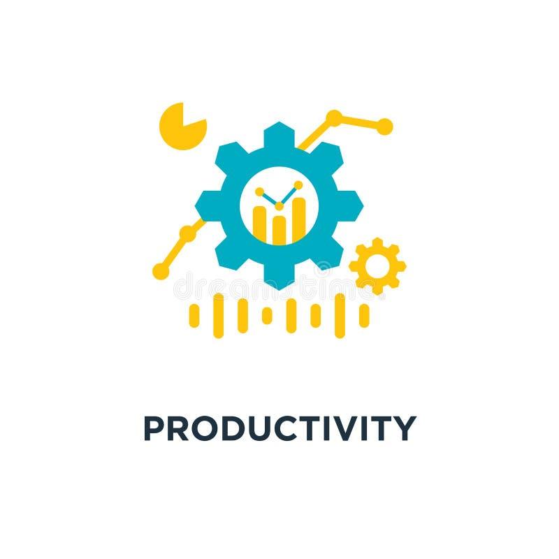 生产力象 生产量概念标志设计,pe 向量例证