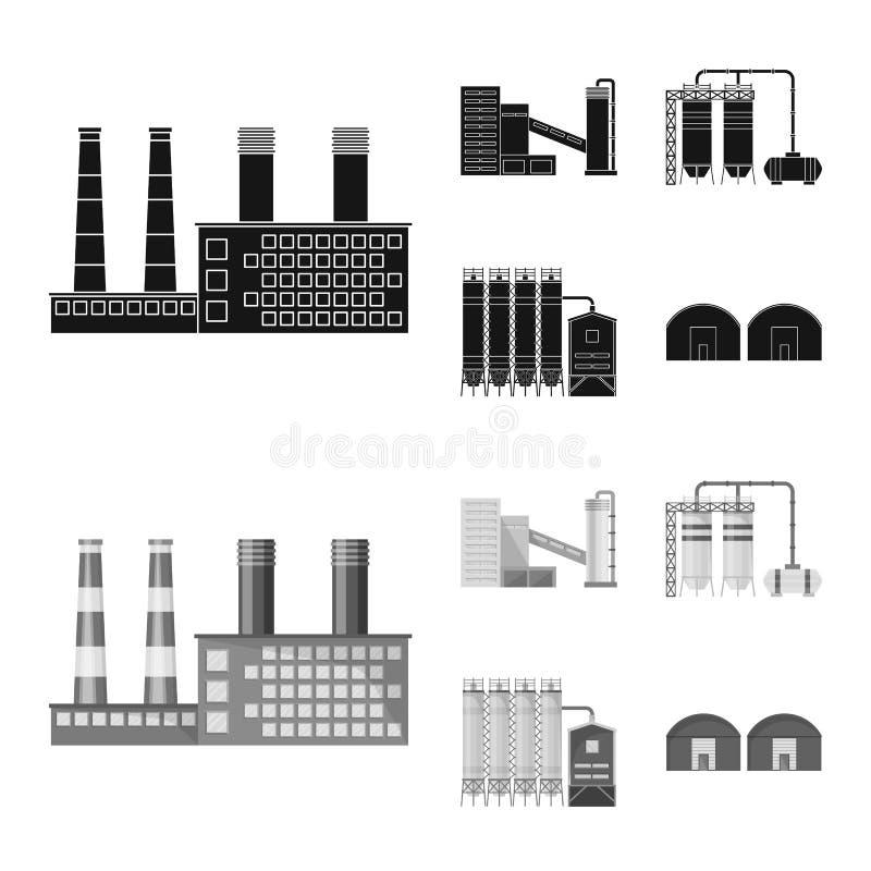生产和结构标志传染媒介设计  设置生产和科技股标志网的 库存例证