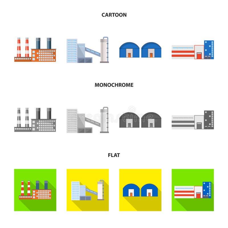 生产和结构象被隔绝的对象  生产和技术股票的传染媒介象的汇集 库存例证