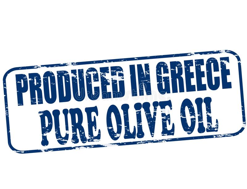 生产在希腊 库存例证