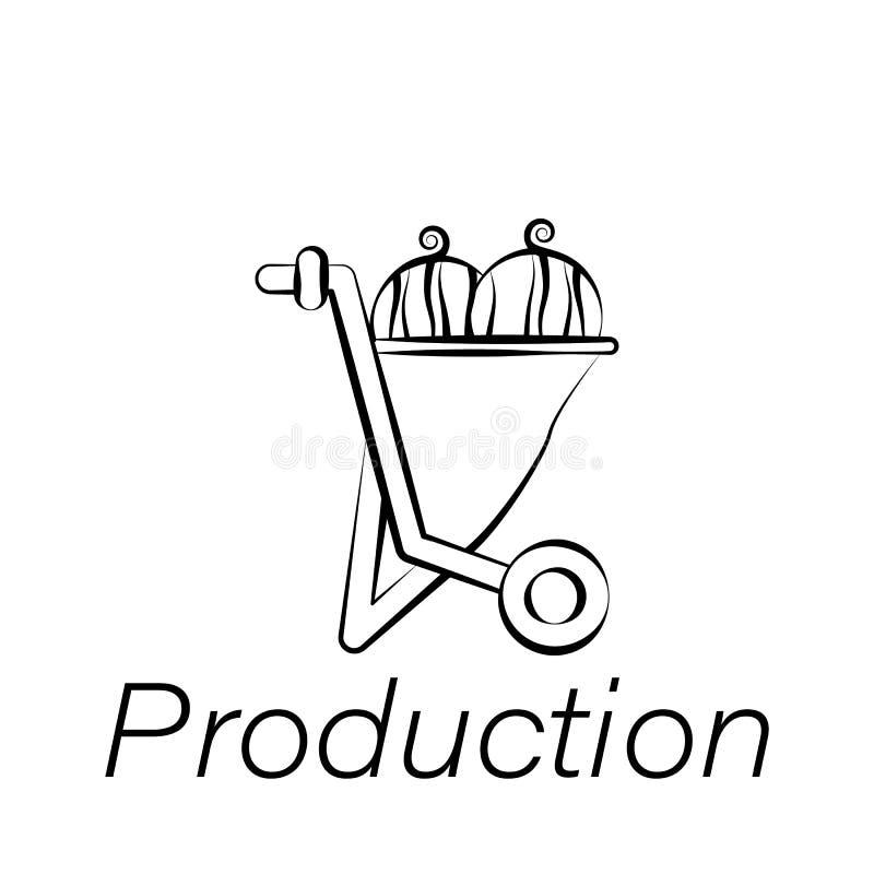 生产手凹道象 种田例证象的元素 标志和标志可以为网,商标,流动应用程序,UI,UX使用 皇族释放例证