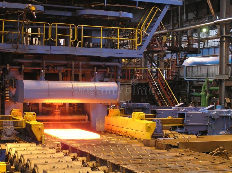 生产板钢 免版税库存照片