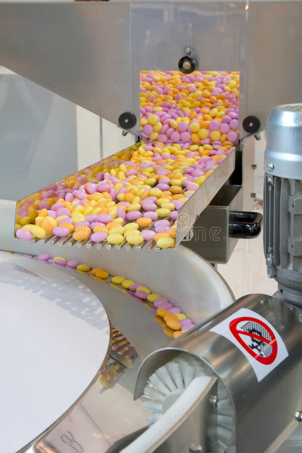 生产甜点 库存照片