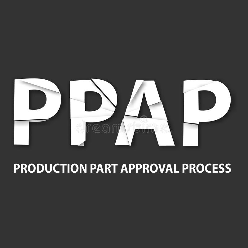 生产零件审批手续方法背景 向量例证