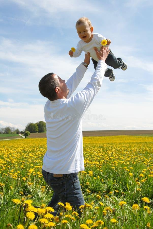 生他增强的天空儿子  免版税库存照片