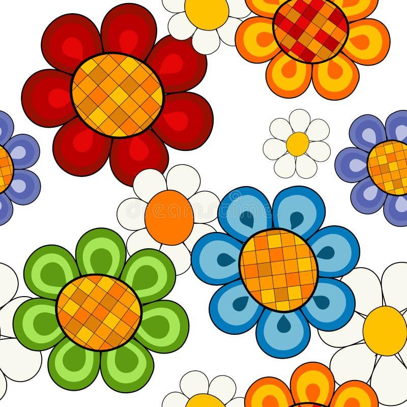 生动不费力的花卉的模式 向量例证