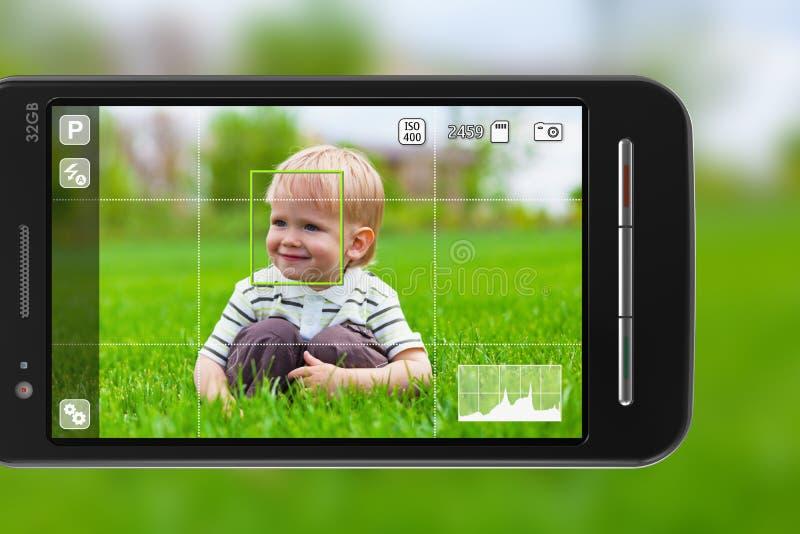 生动描述smartphone采取 皇族释放例证