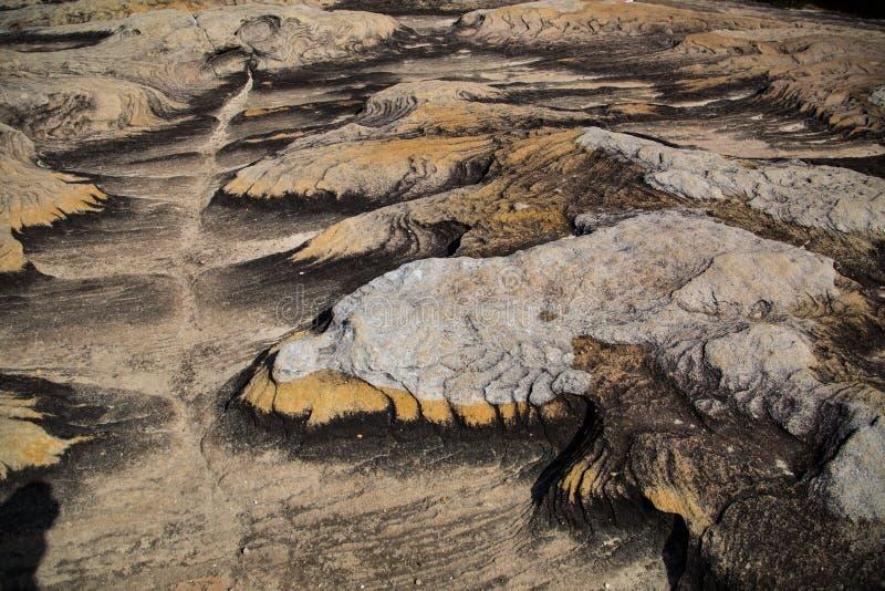 生动的岩石样式 图库摄影
