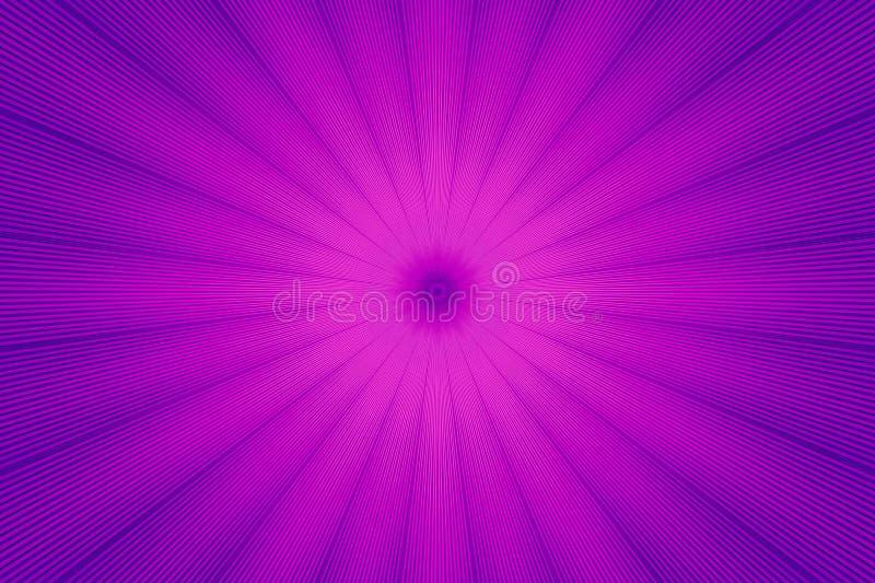 霓虹紫色发光的光芒射线 生动的幻觉 库存例证