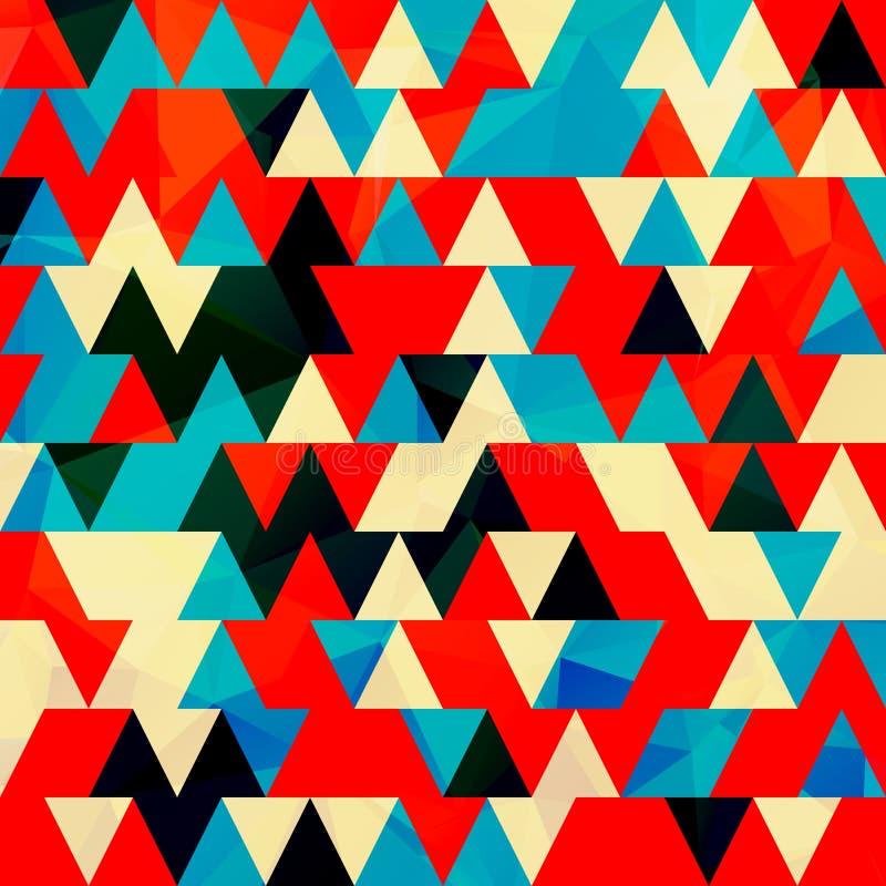 生动的未来派三角艺术设计 向量例证