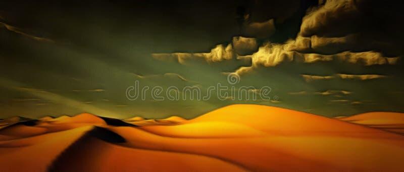 生动的沙漠 库存照片