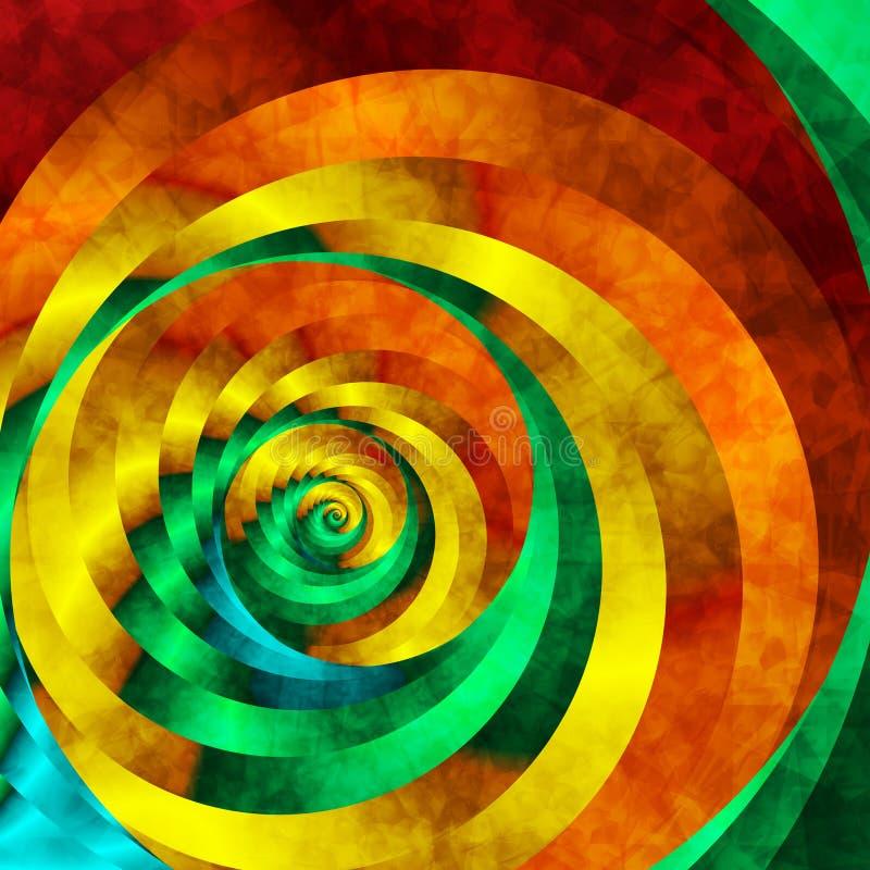 生动的漩涡 向量例证