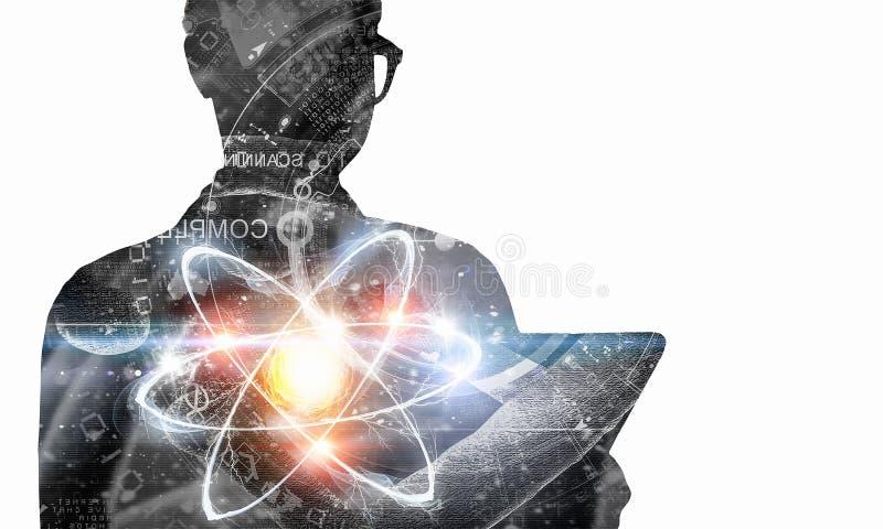 生化和技术 混合画法 向量例证