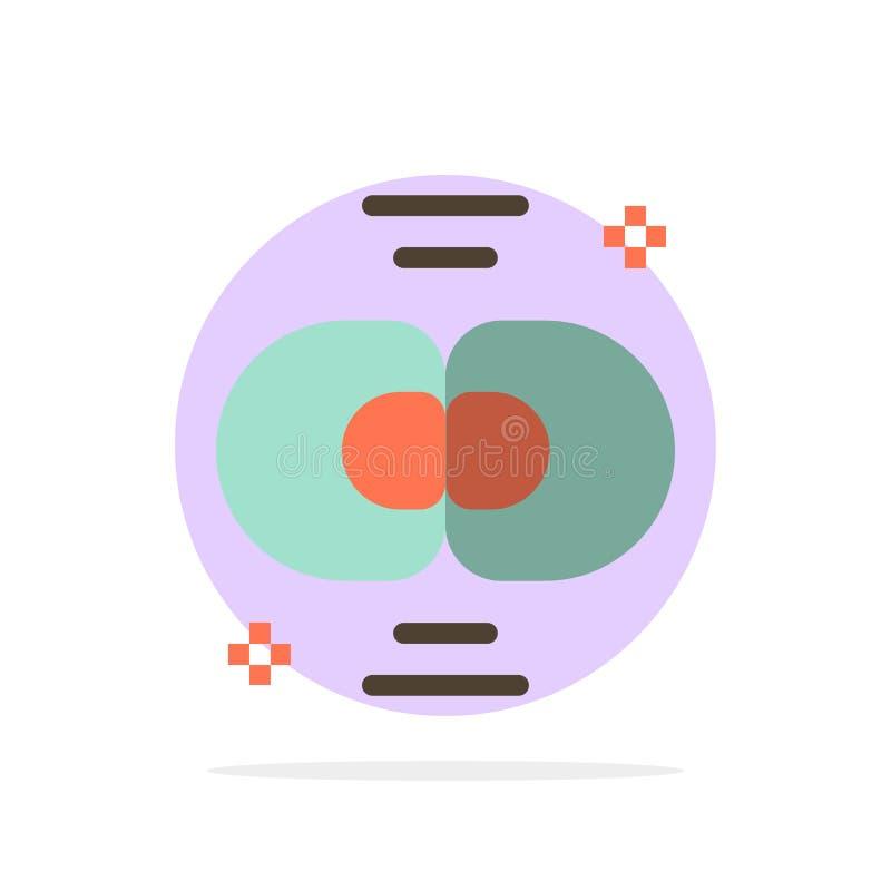 生化,生物,细胞,化学,分部抽象圈子背景平的颜色象 向量例证