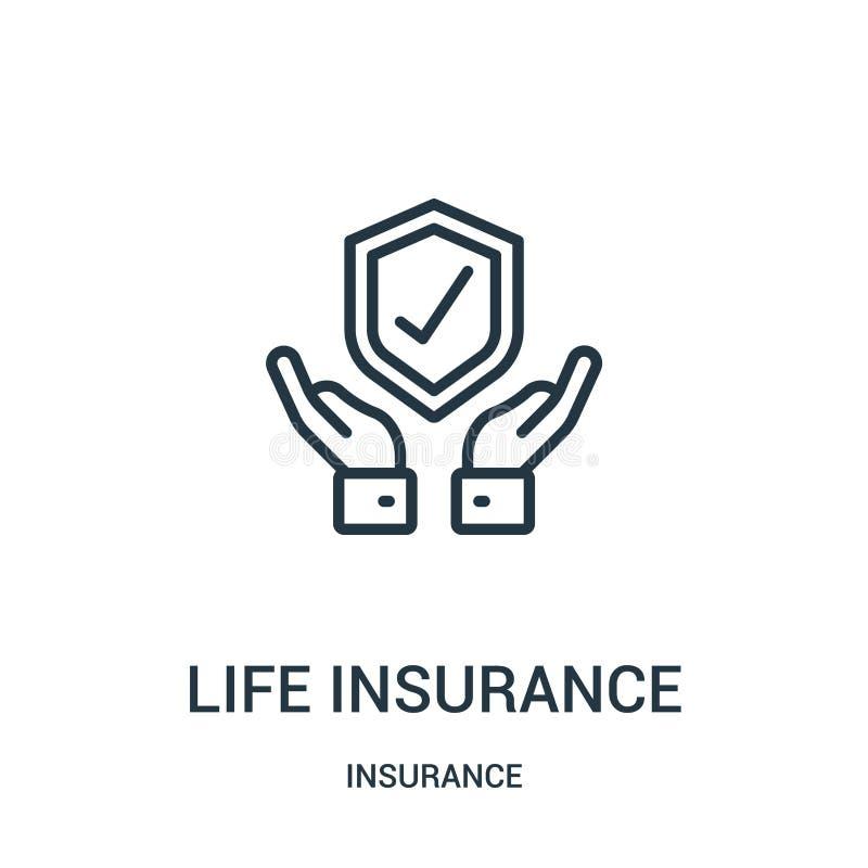 生命保险从保险汇集的象传染媒介 稀薄的线生命保险概述象传染媒介例证 r 库存例证