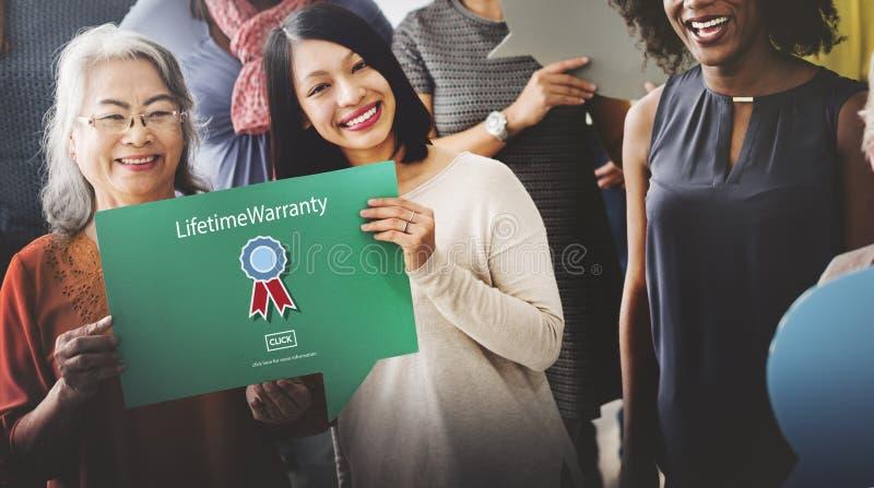 终生品质保单得奖的情况保证概念 免版税库存照片