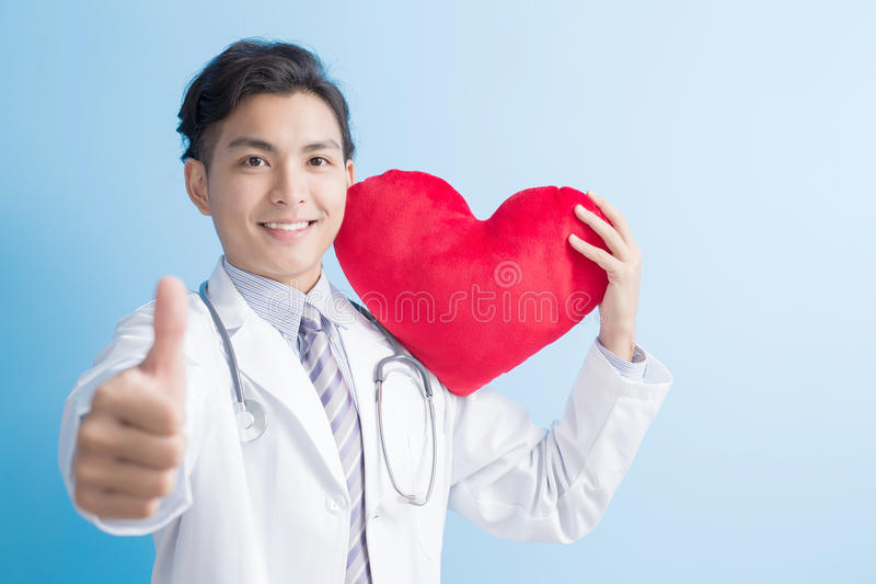 医生对您的展示心脏 库存照片