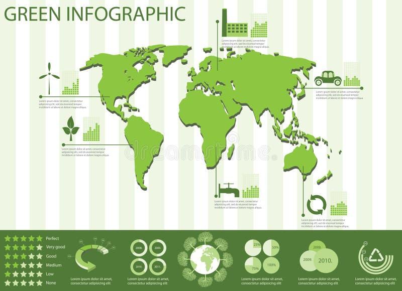 生态信息图象收集 库存例证