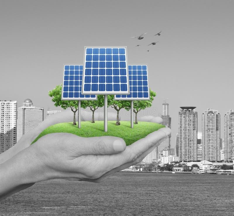 生态力量和能量概念 库存图片