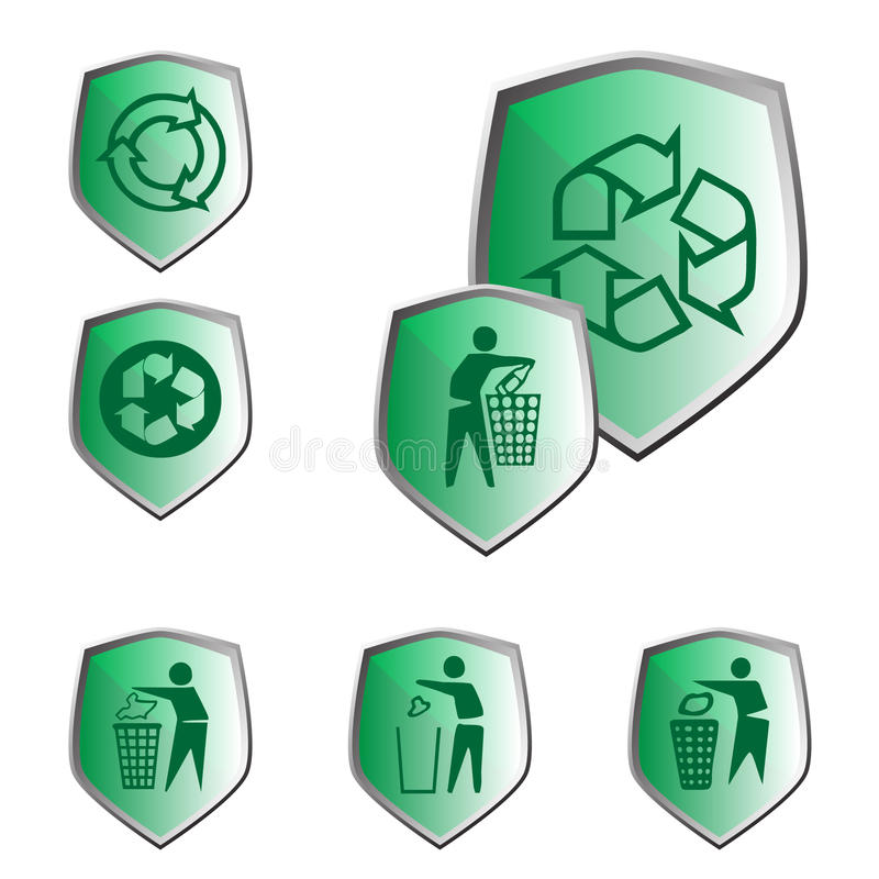 生态图标回收 免版税库存照片
