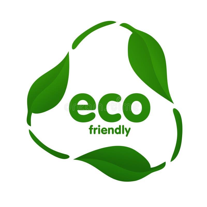 生态图标回收 向量例证
