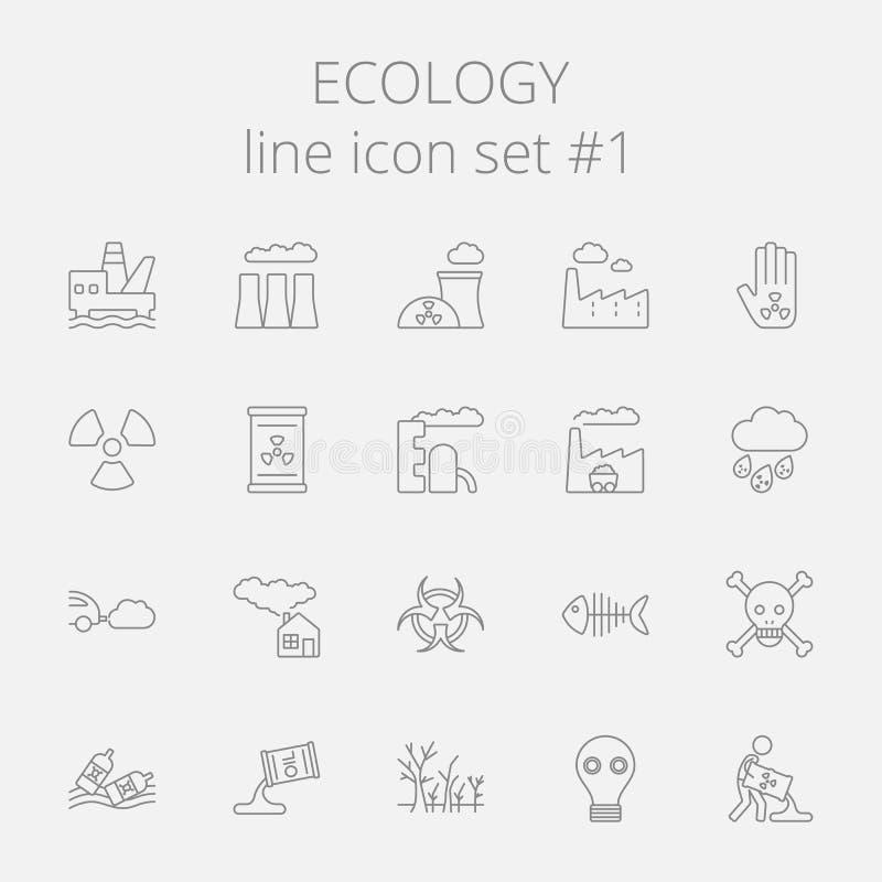 生态图标集 库存例证