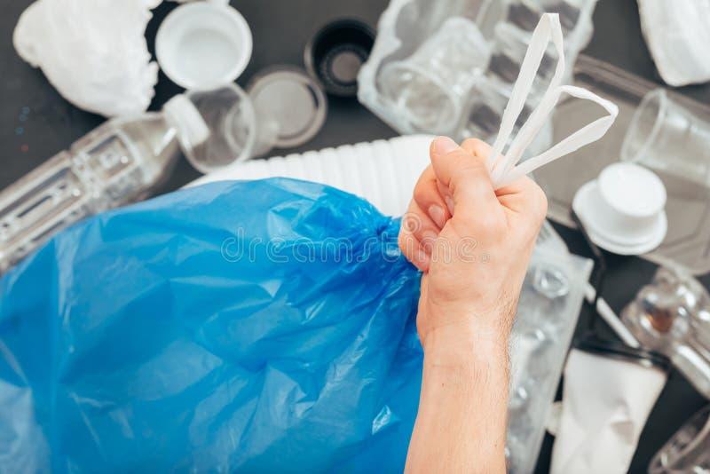 生态塑料自由生活地球污染回收 免版税库存图片