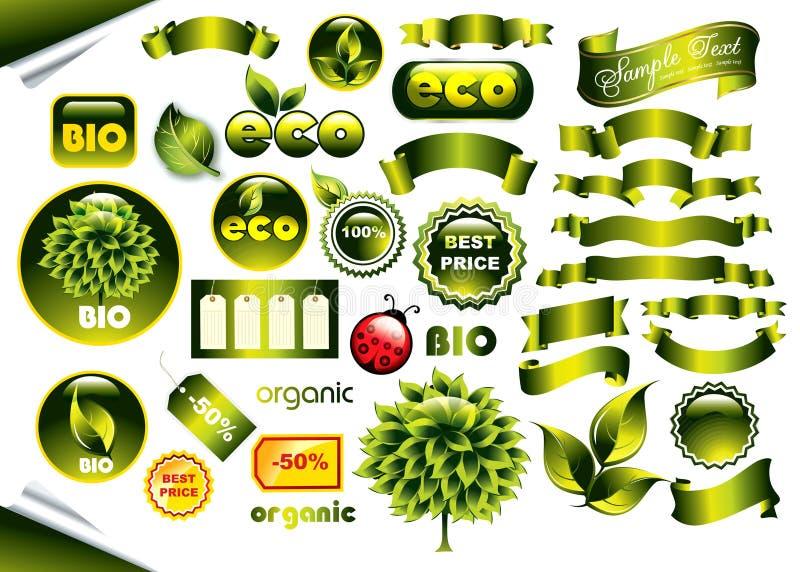 生态学元素集向量 向量例证