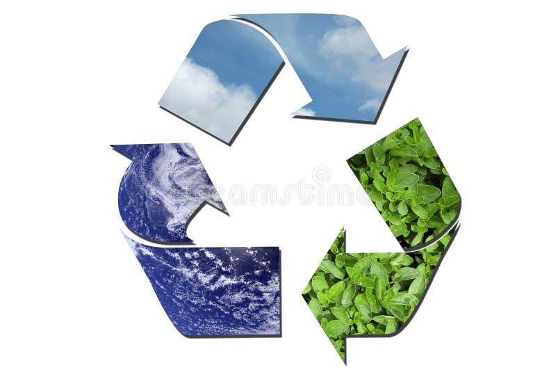 生态学回收符号 图库摄影