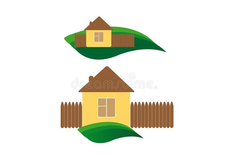 生态学房子 向量例证