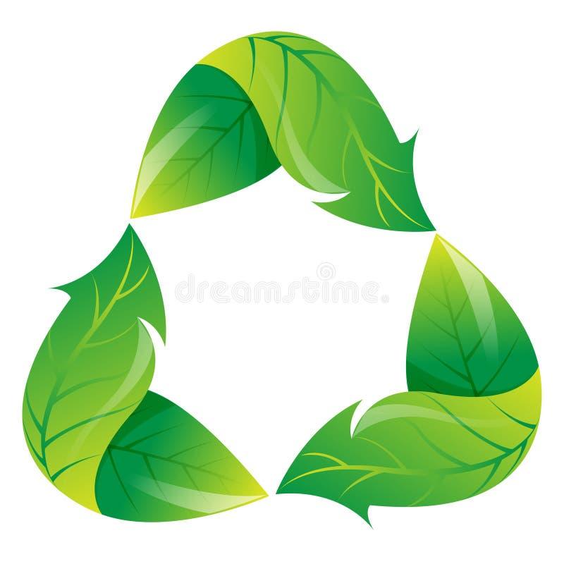 生态学是绿色回收 皇族释放例证