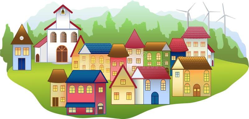 生态学村庄 向量例证