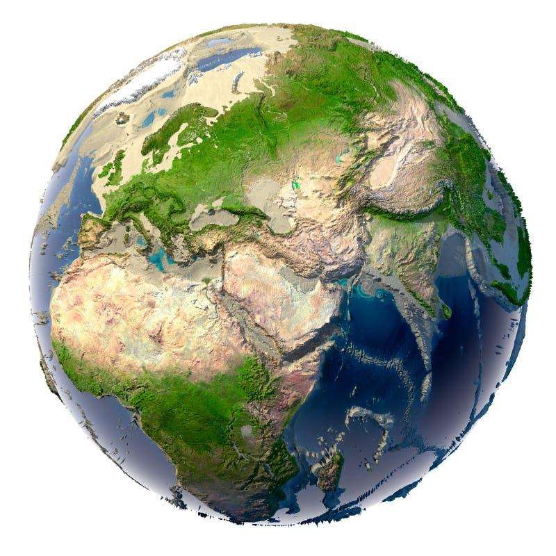生态学浩劫的地球 皇族释放例证